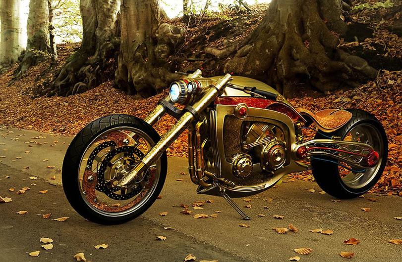 стимпанк-мотоцикл-809207